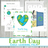 Preschool Earth Day Printable Learning Pack