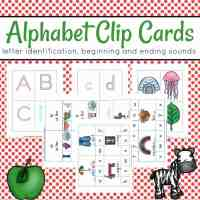 Printable Alphabet Clip Cards