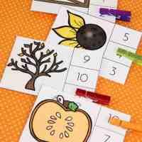 Autumn Count and Clip Cards Bundle