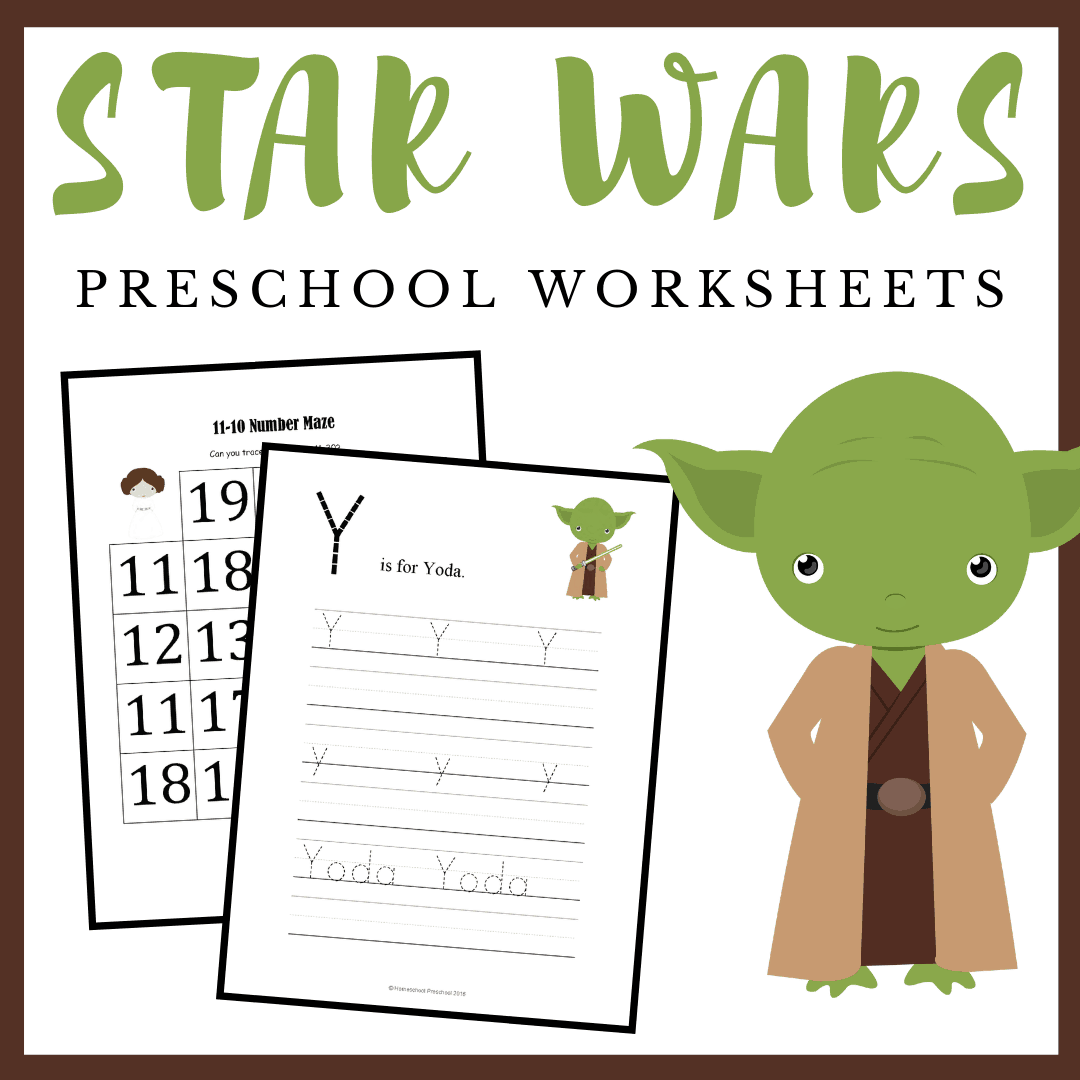 Free Printable Star Wars Preschool Learning Pack