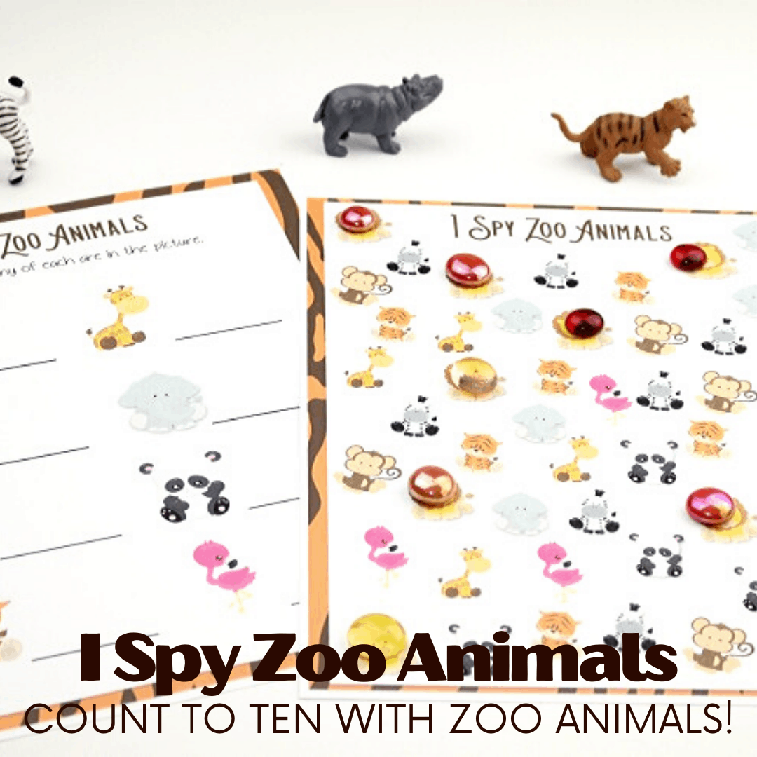 Free Printable I Spy Zoo Animals Counting Game For Kids