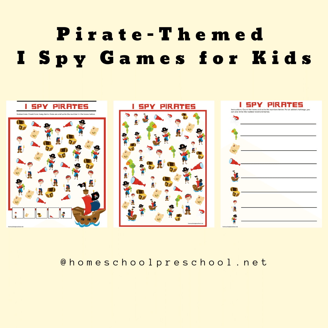 Free I Spy Pirate Printables For Kids Of All Ages