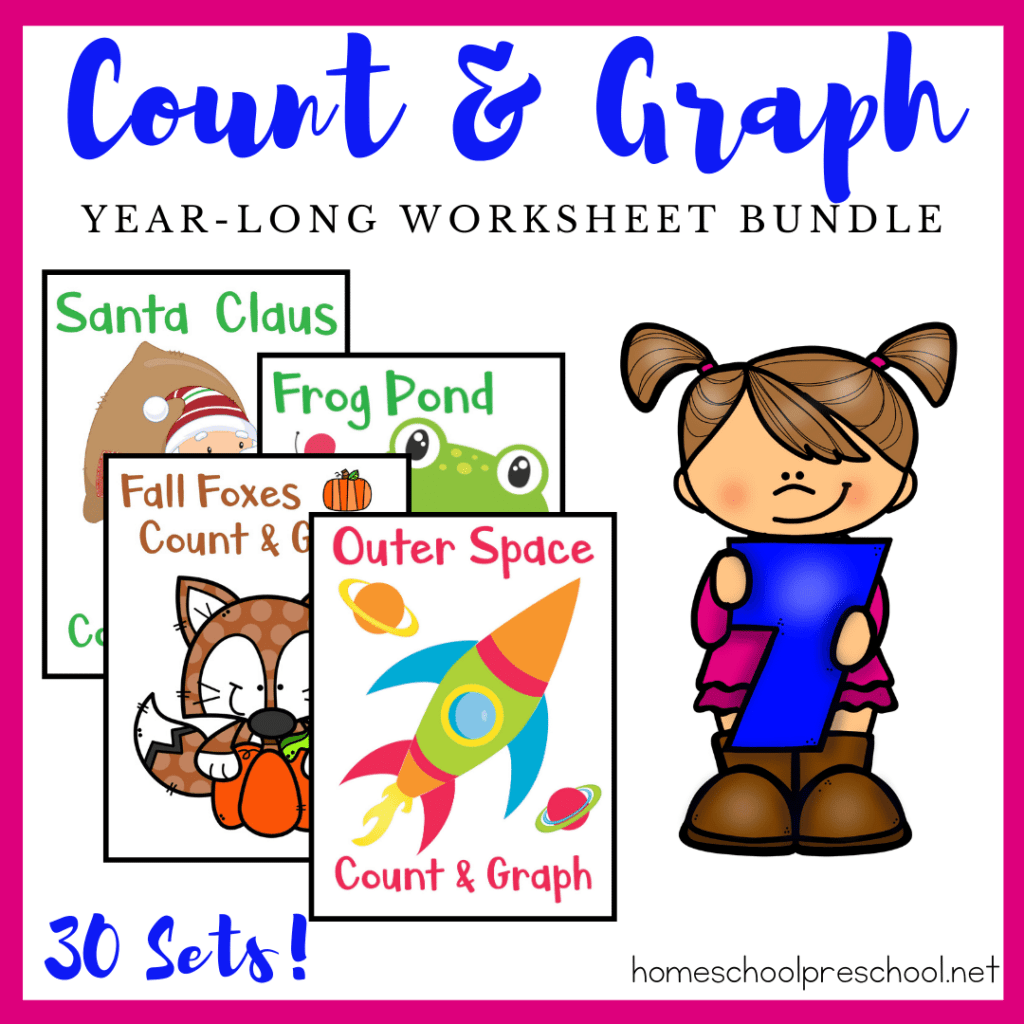 Busy Bees Count And Graph Worksheets