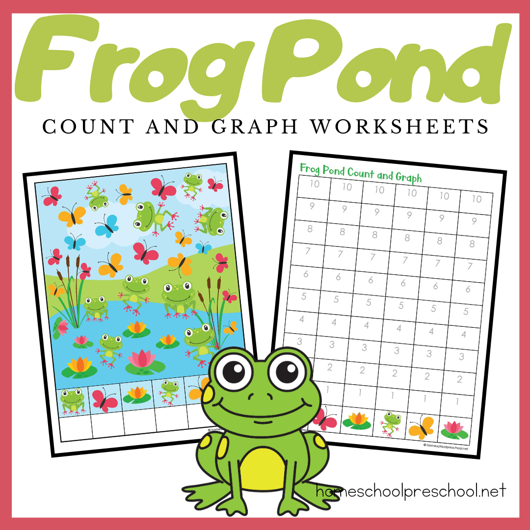 Printable Frog Count And Graph Worksheets