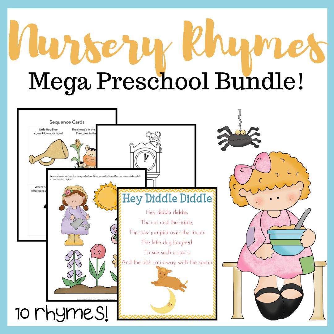 Printable Nursery Rhyme Activities Bundle For Preschool