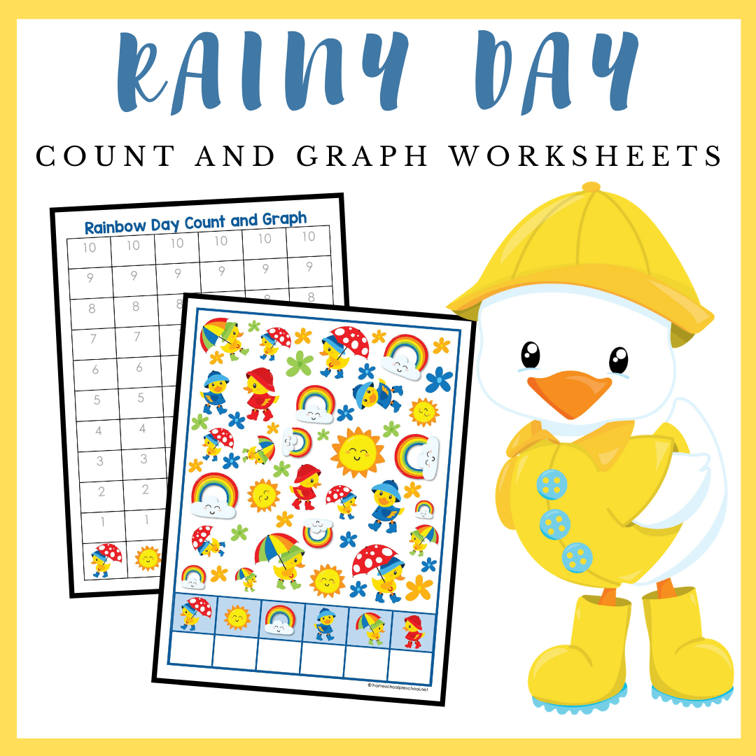 Printable Rainy Day Count And Graph Worksheets
