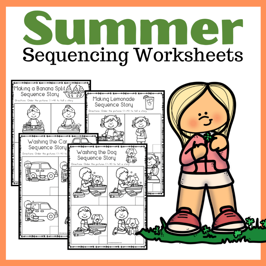 Free Sequencing Worksheets For Summer Learning