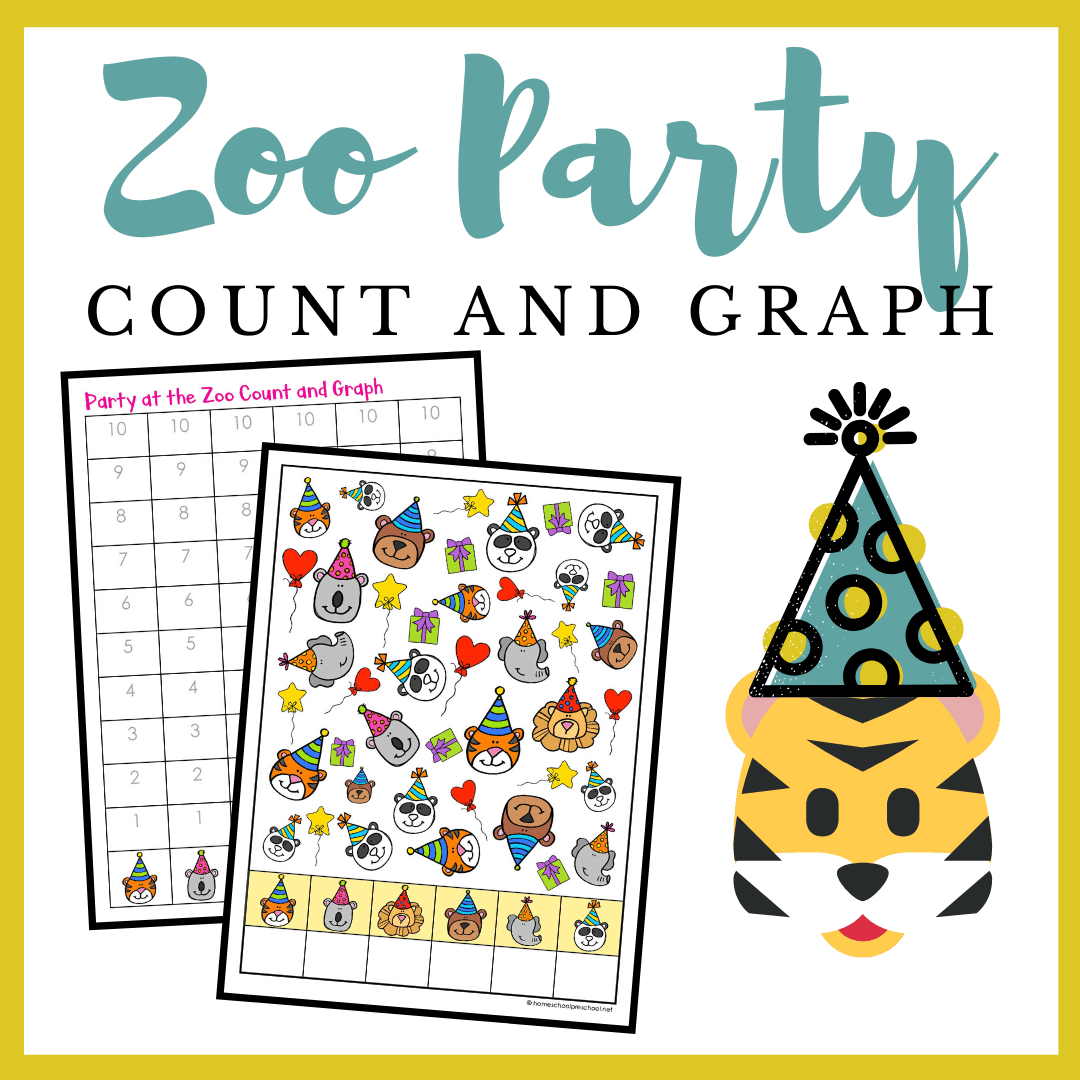 Printable Zoo Animals Count And Graph Worksheets