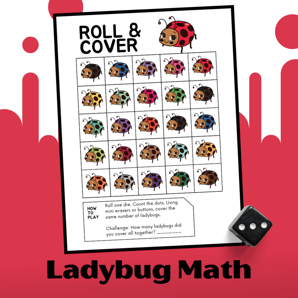 No Prep Ladybug Math Worksheet For Preschoolers