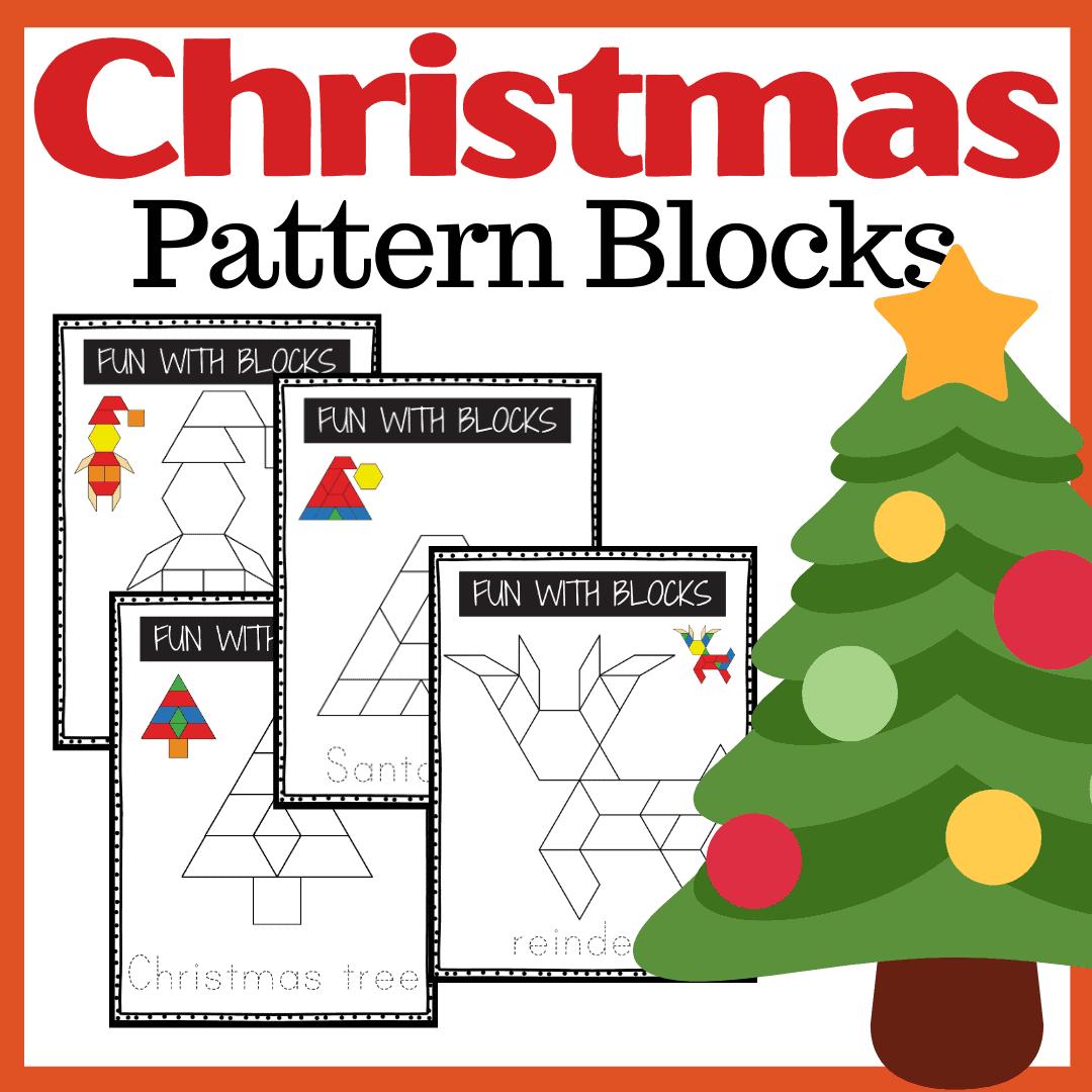 Christmas Pattern Block Printables For Preschoolers