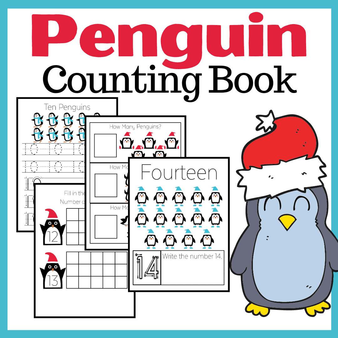 Penguin Counting Worksheets For Preschool And Kindergarten