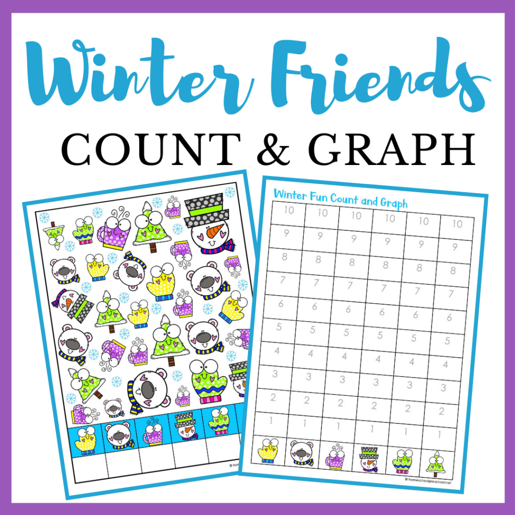 Printable Winter Fun Count And Graph Worksheets