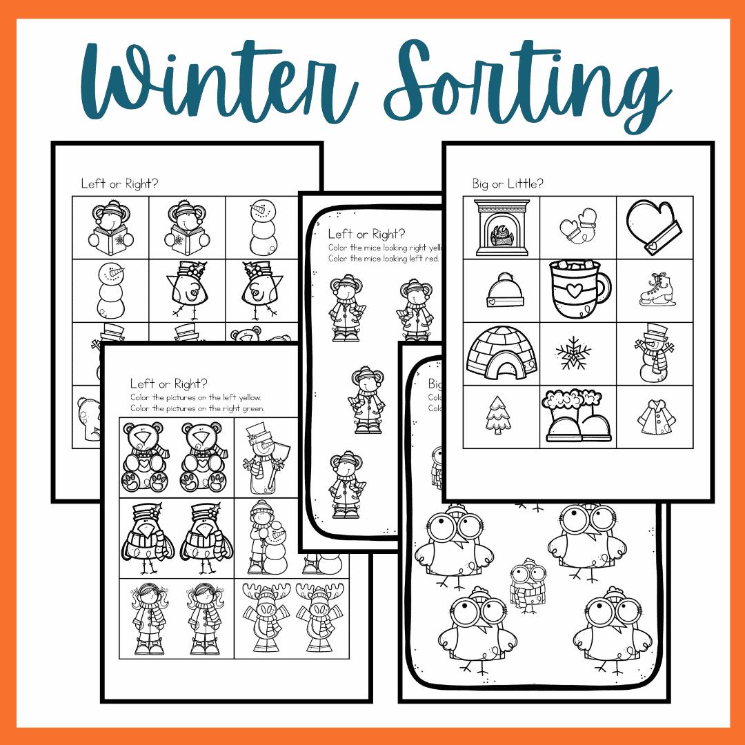 W Is For Winter Preschool Printables