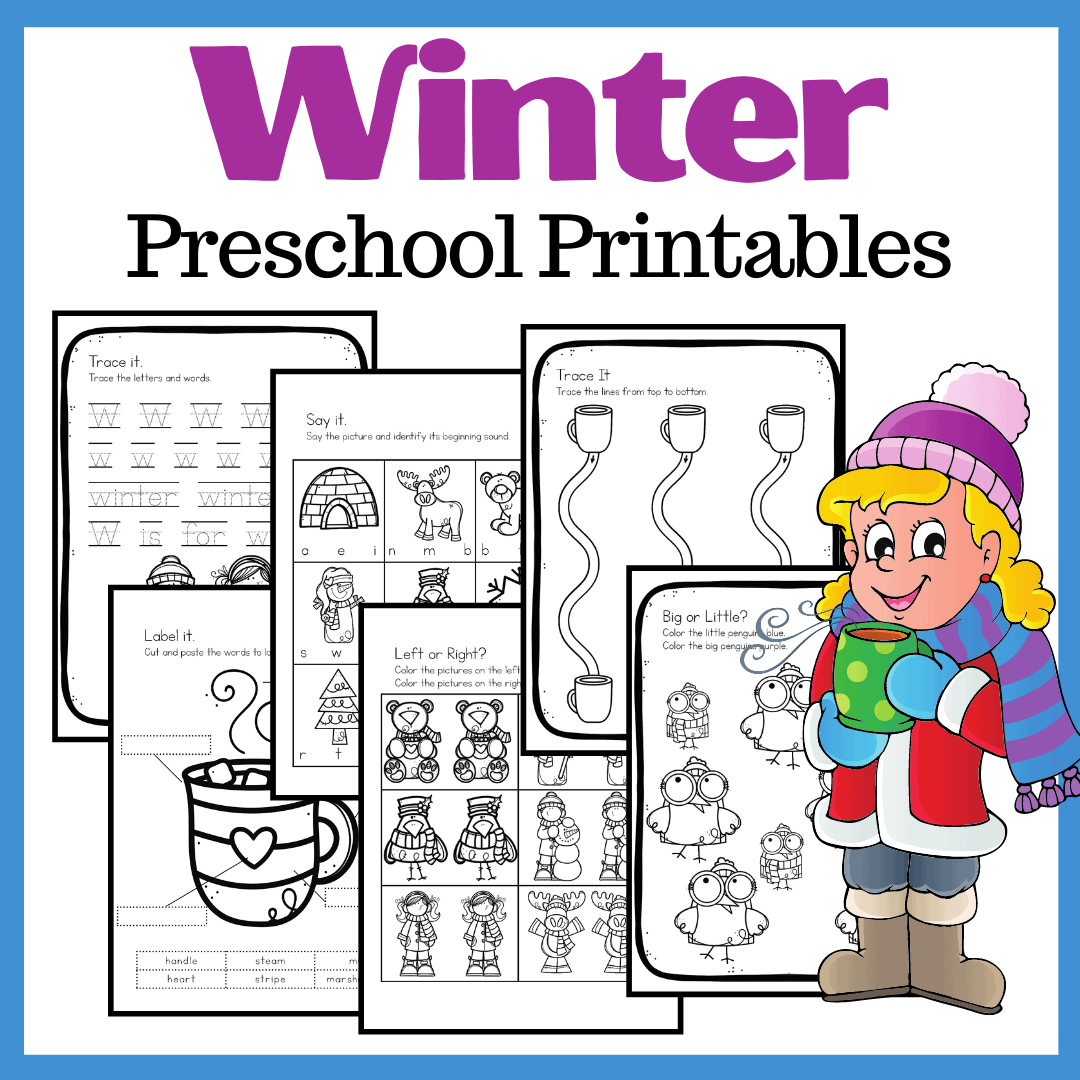W Is For Winter Preschool Printables