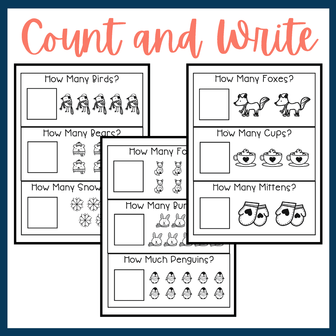 Printable Winter Counting Worksheets For Preschool