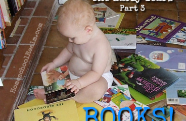 Homeschooling the early years, part 3, books