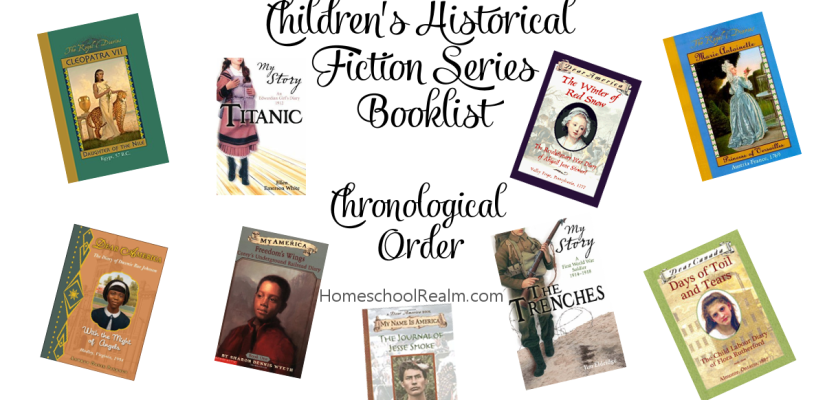 Children's Historical Fiction Series, Chronological Order