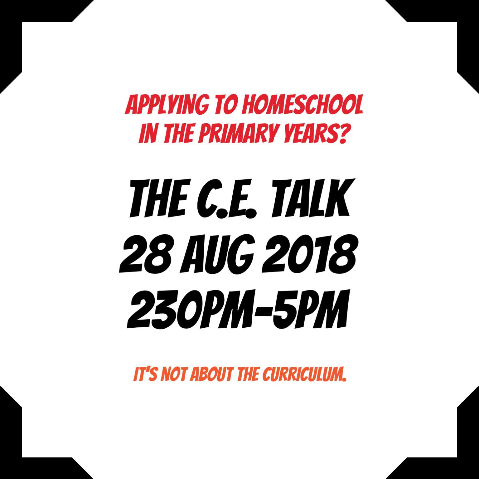 The C.E. Talk 2018