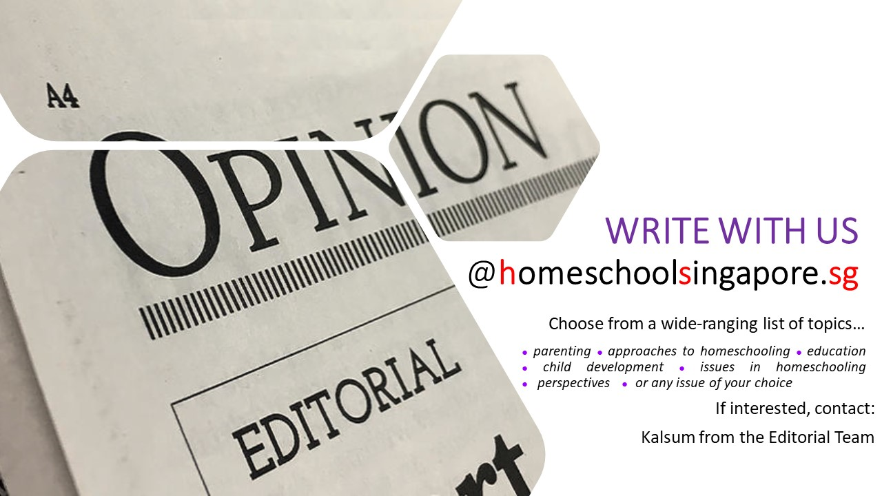 Join the writing team at HomeschoolSingapore.sg!
