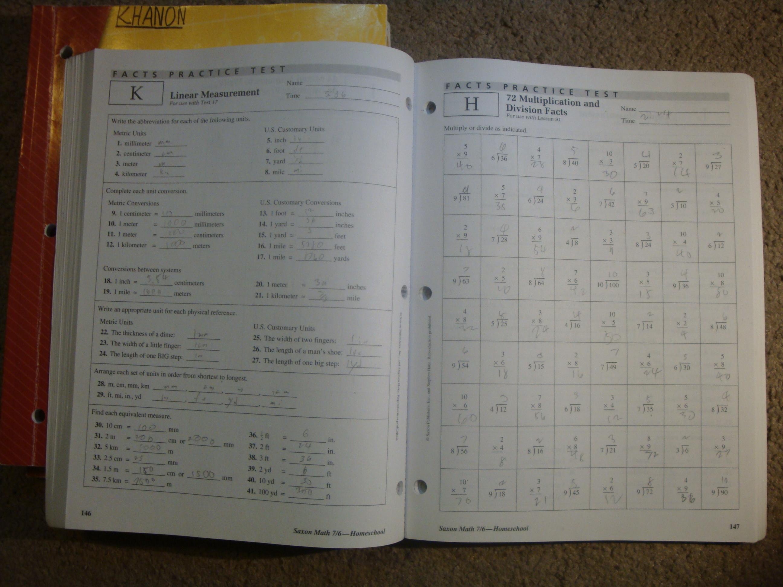 Saxon Math Grade 7 6 Homeschool Travelers