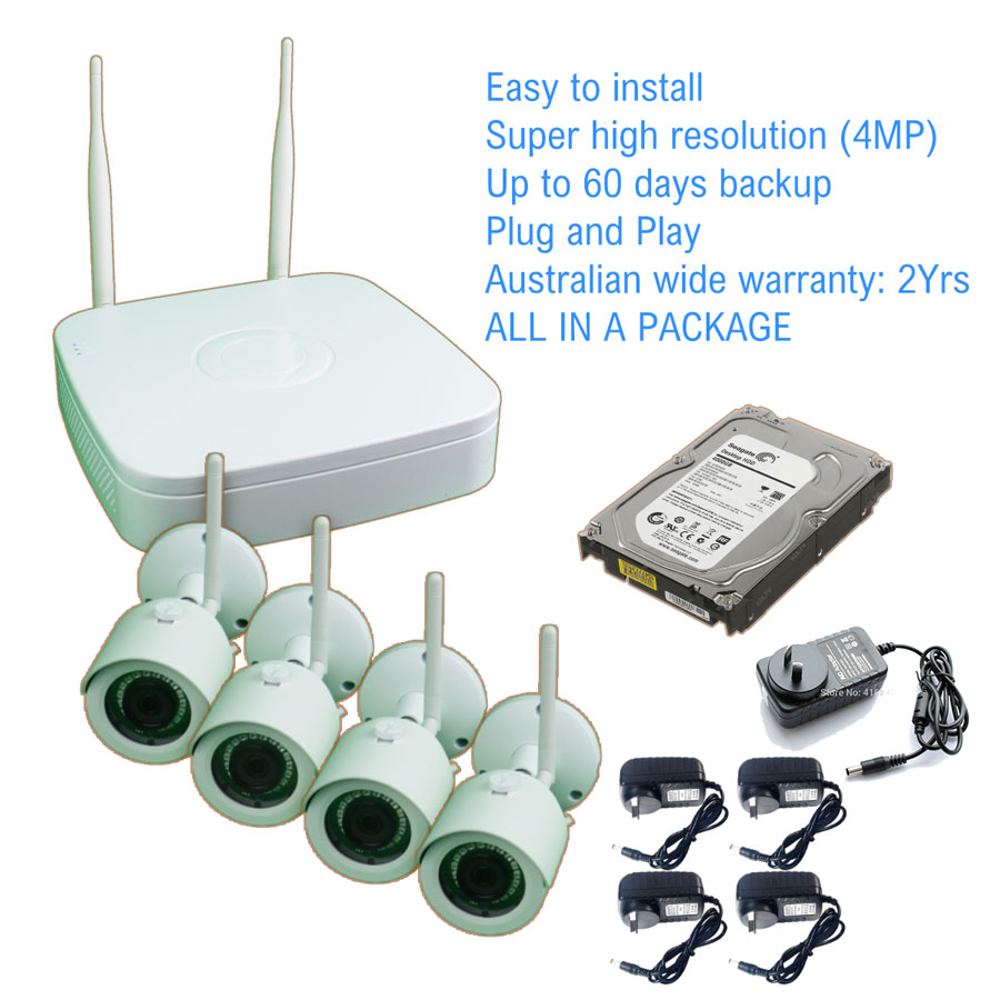 Wireless Security Camera Package