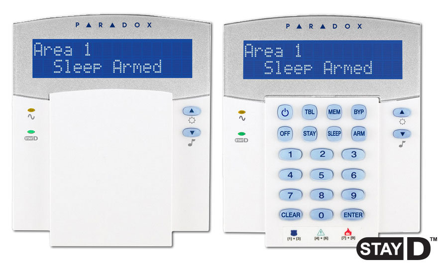 paradox k32lcd 32 character hardwired lcd keypad module home rh homesecurity1st co za Paradox Alarm System and CQDT Paradox Security Canada
