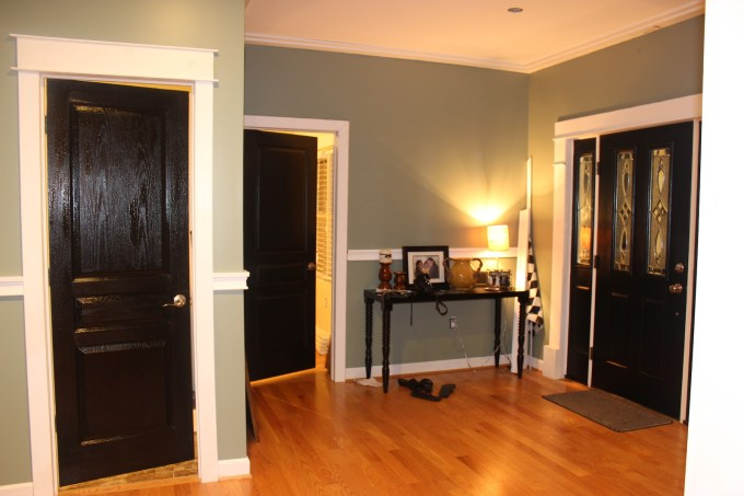 how to paint brown interior doors white www