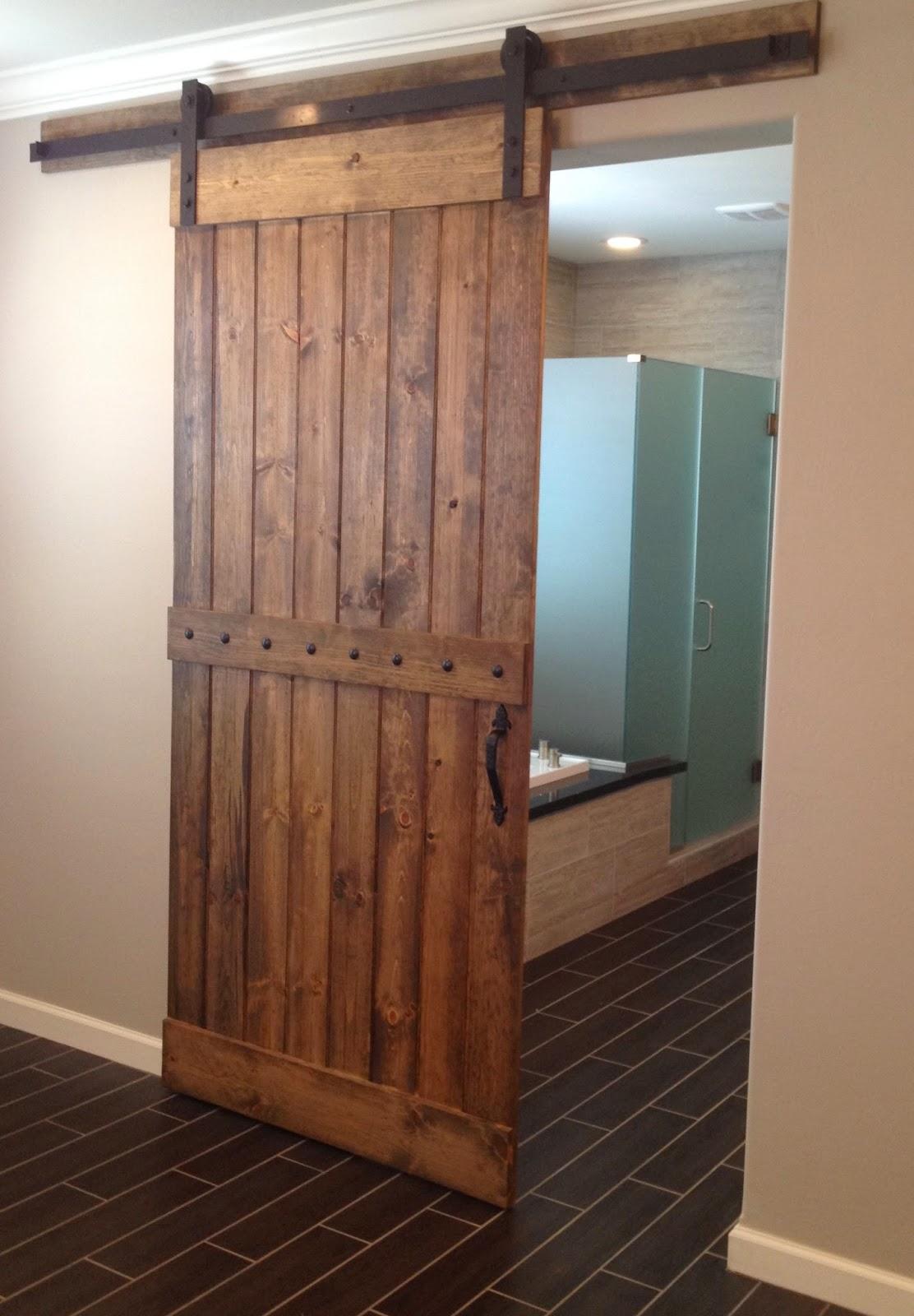 glass barn doors for closet a newest style of bathroom on Brown Barn Door id=31246