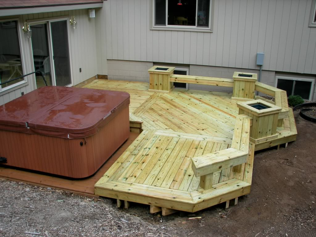 Decks with Hot Tubs: The Outstanding Home Deck Design ... on Deck And Hot Tub Ideas  id=91763