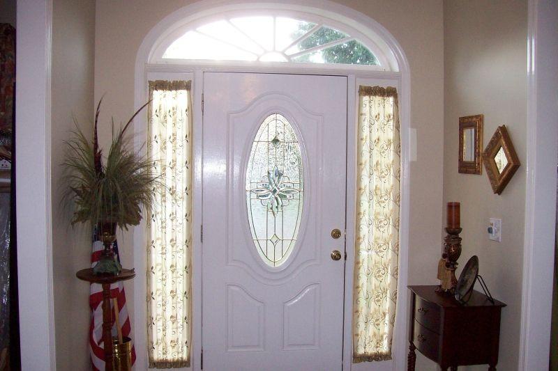 Side Front Door One Sidelight Window Film