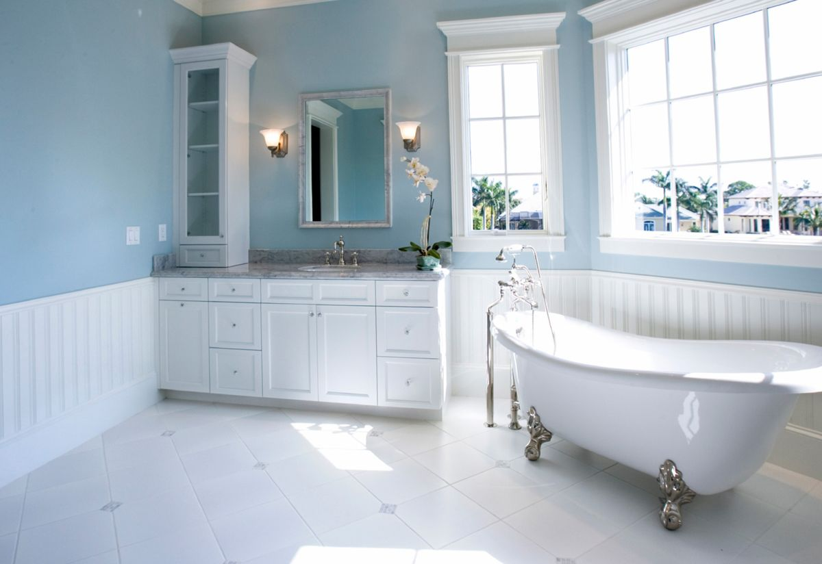 choosing the right bathroom color scheme to show your on blue paint bathroom ideas exterior id=24863