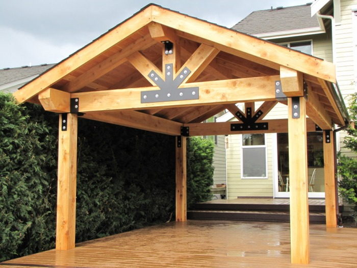 Wooden Patio Covers: Give High Aesthetic Value and Best ... on Backyard Wood Patio Ideas id=40910