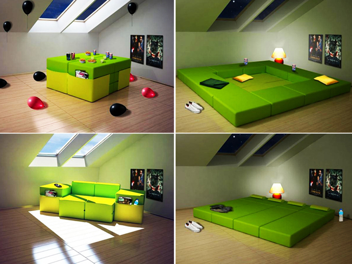 Creative Modern Modular Furniture Design for Small Space   HomesFeed incredible modern nice awesome great modular bed for