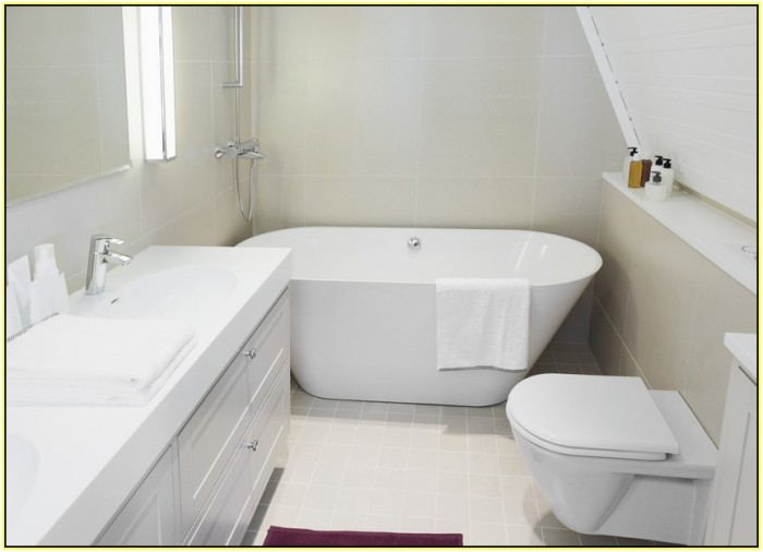 Soaking Tubs for Small Bathrooms - HomesFeed on Small Space Small Bathroom Ideas With Tub id=19314