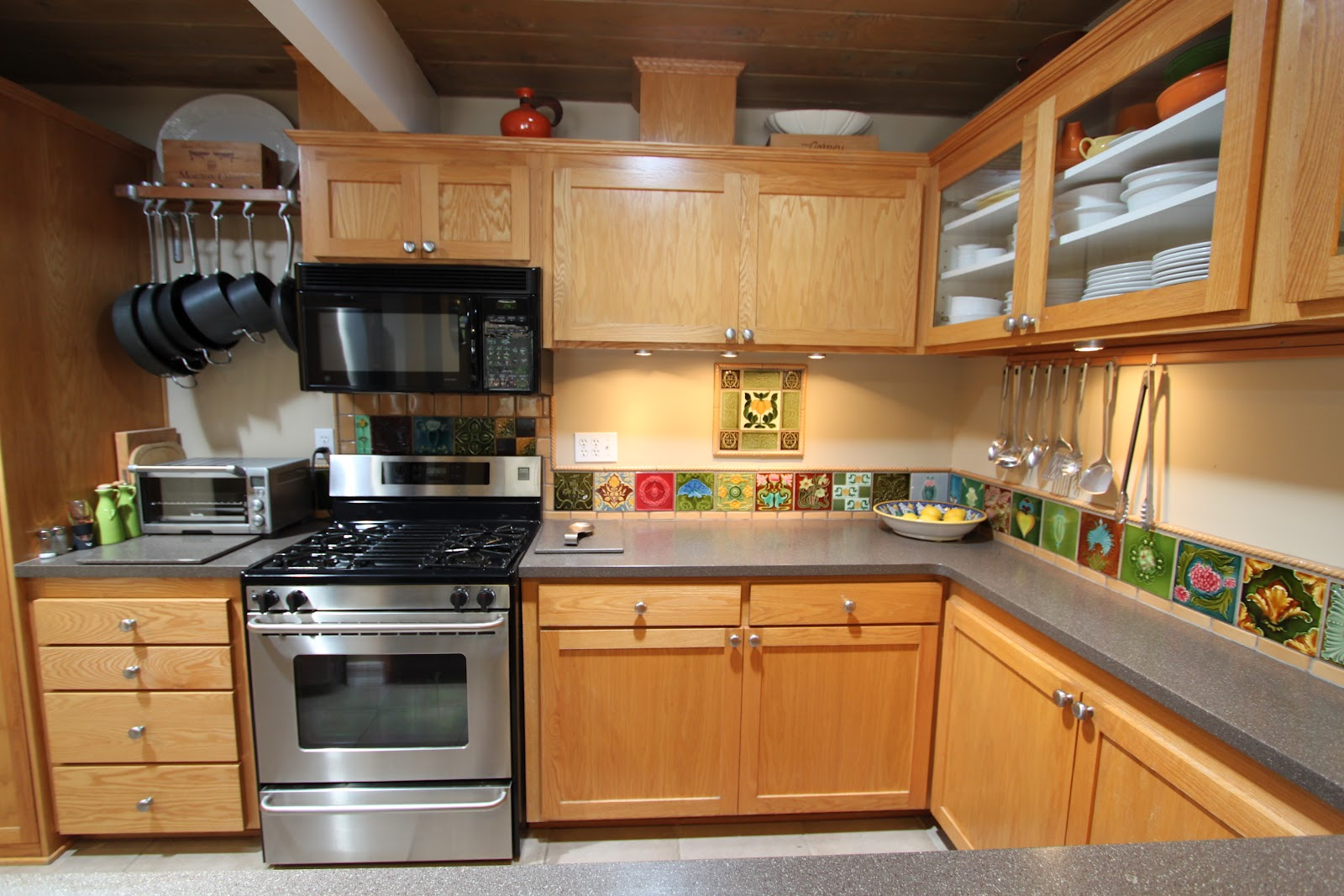 Mid Century Modern Kitchen Cabinet Shows Elegant ... on Modern Kitchens  id=43950