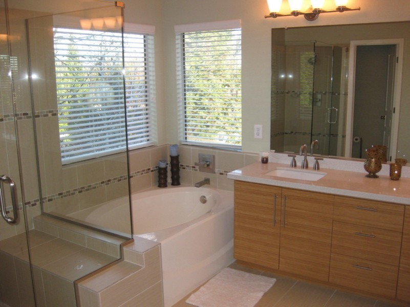 Get an Excellent and a Luxurious Bathroom Outlook by ... on Master Bathroom Remodel Ideas  id=80457