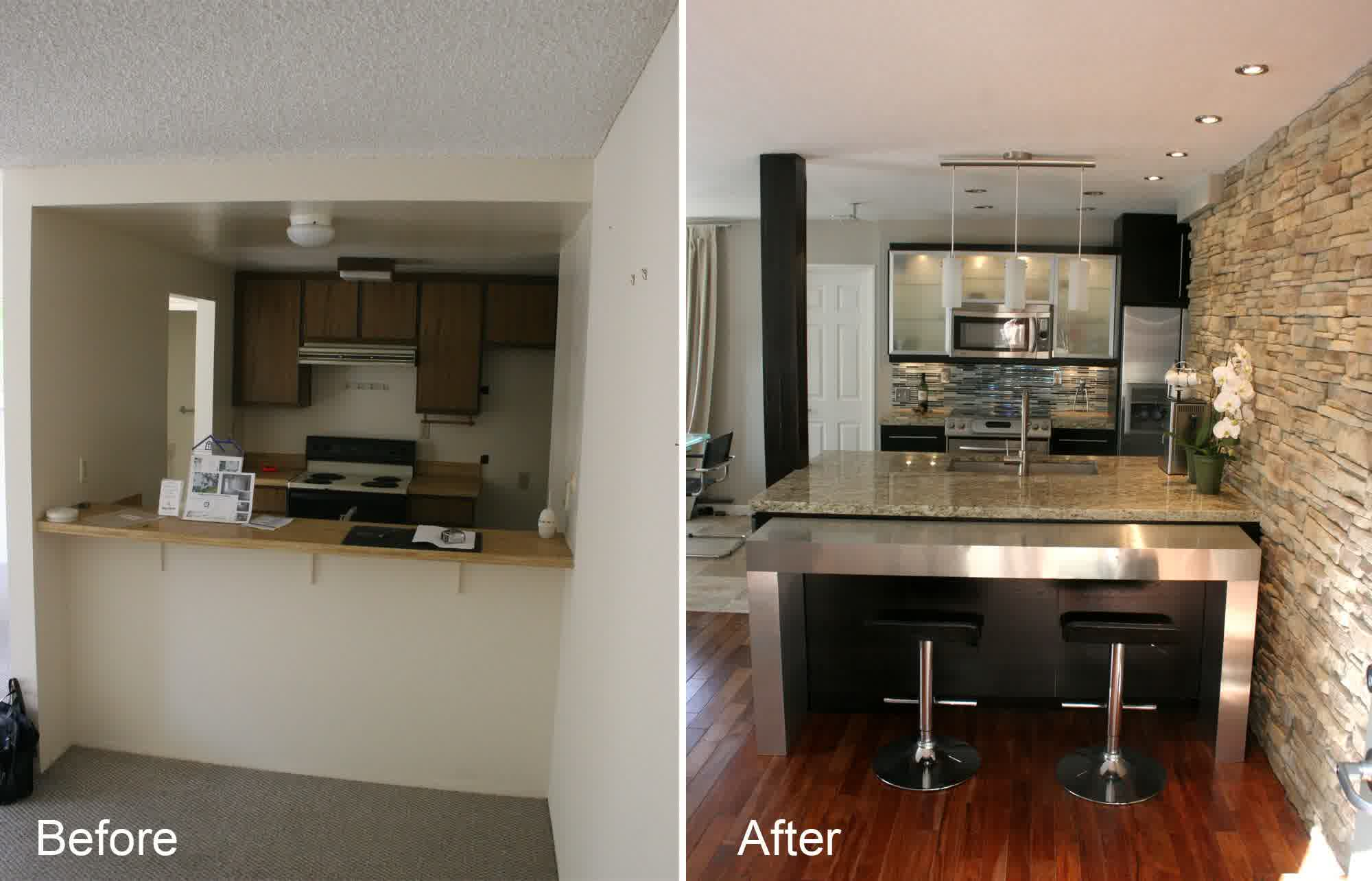 Small Kitchen Remodel Before and After for Stunning and ... on Small Kitchen Remodel  id=22188
