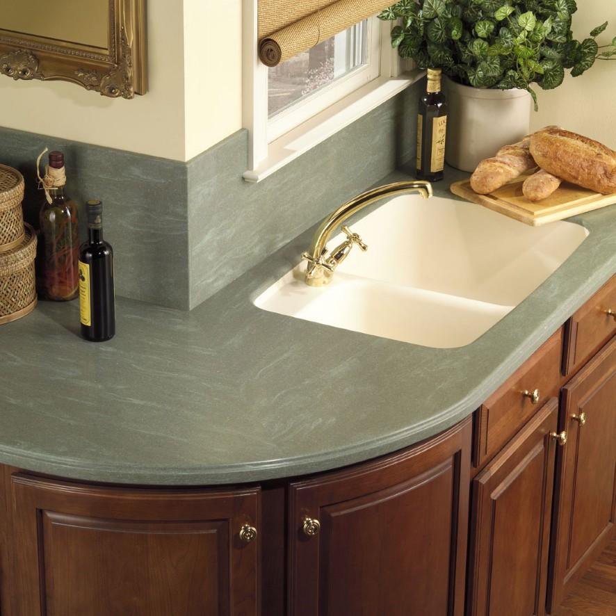 Creative Kitchen Counter-top Design Disguises Low Cost ... on Kitchen Counter Top Decor  id=81516