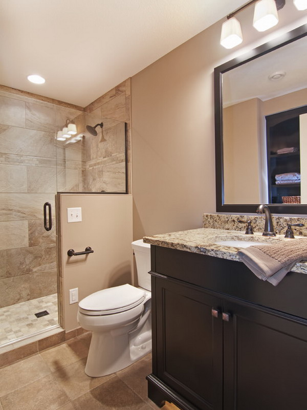 Accessible Basement Bathroom Ideas with Tasteful and Less ... on Bathroom Remodel Design Ideas  id=52312