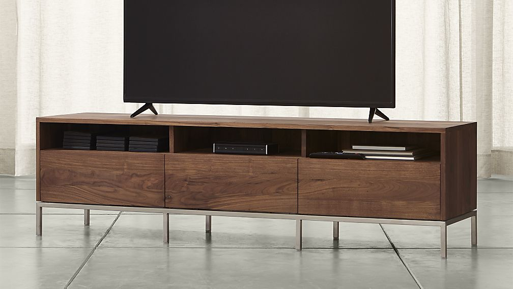 Low Profile Media Consoles In The Living Room To Keep Your