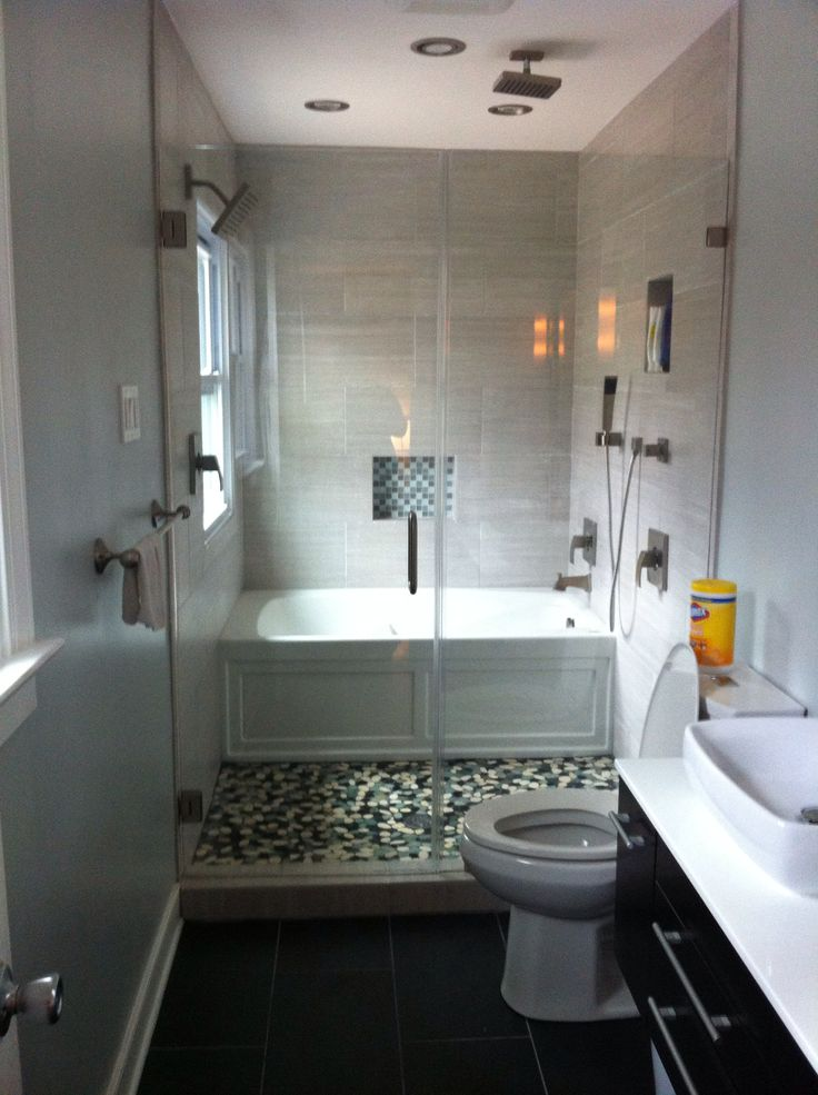 Efficient Bathroom Space Saving with Narrow Bathtubs for ... on Small Space Small Bathroom Ideas With Tub And Shower id=14648
