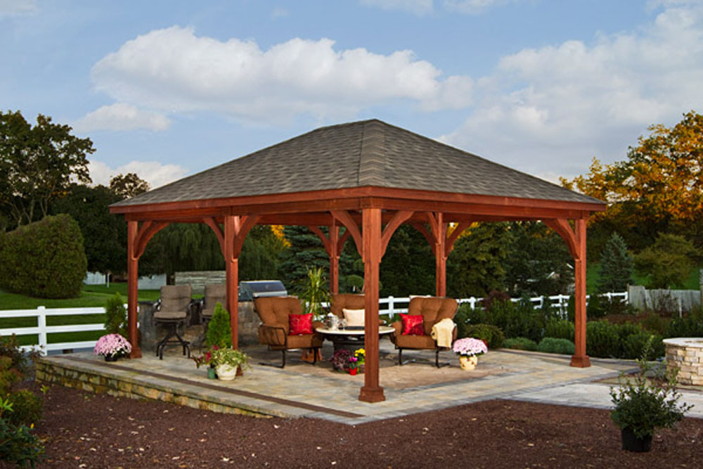 Outdoor Pavilion Plans That Offer a Pleasant Relaxing Time ... on Outdoor Patio Pavilion id=99729