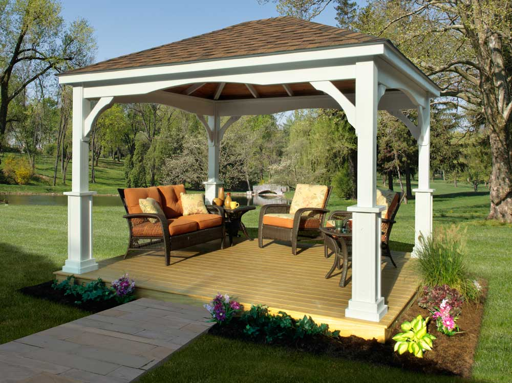 Outdoor Pavilion Plans That Offer a Pleasant Relaxing Time ... on Outdoor Patio Pavilion id=62597