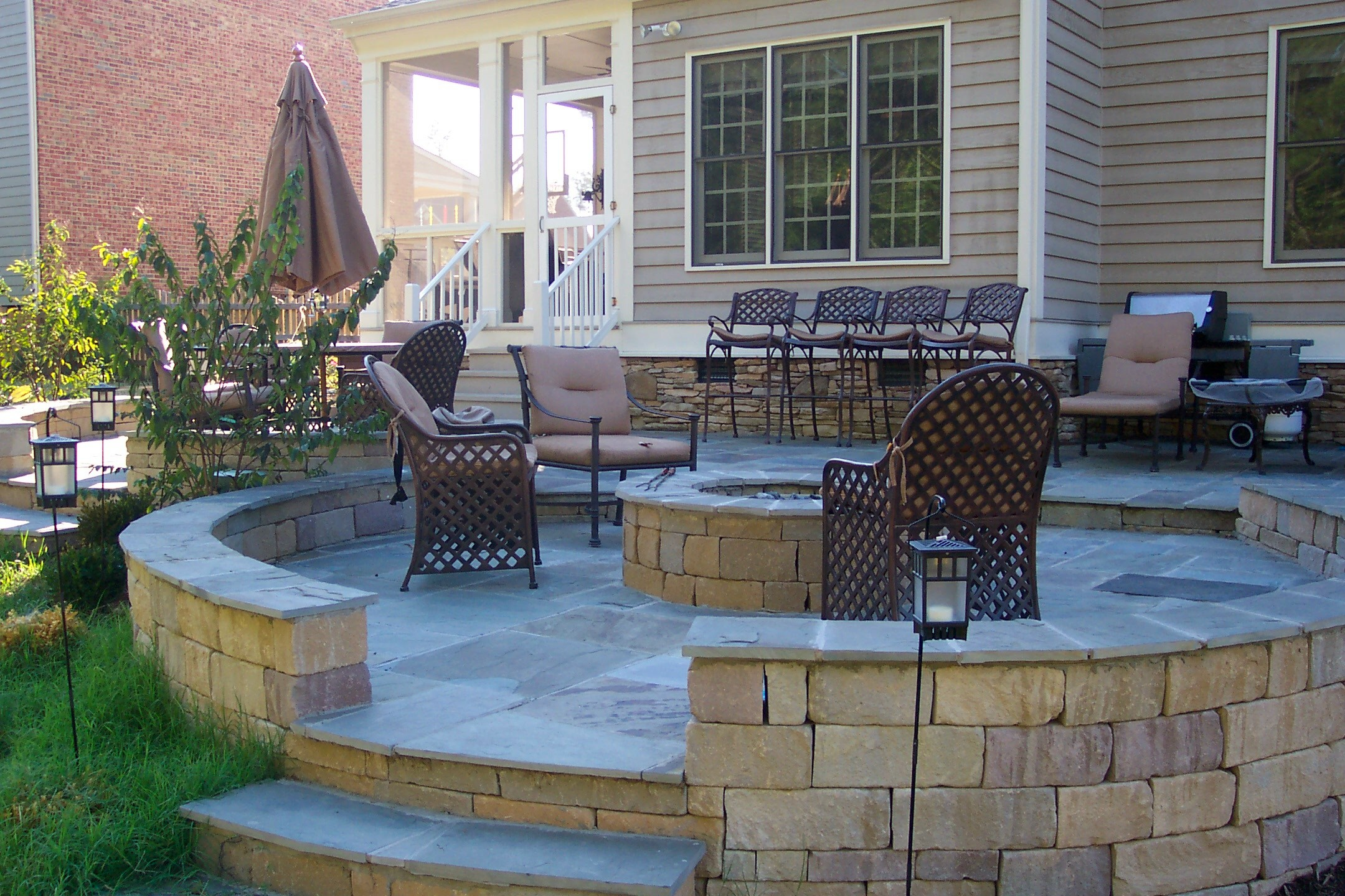 Patio with Fire Pit Shares Beautiful Awe with Personality ... on Backyard Patio Designs With Fire Pit  id=33843