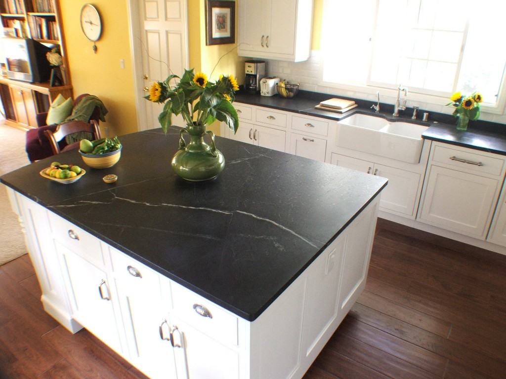 Interior with Soapstone Application Mirrors Classical ... on Black Countertops  id=30755
