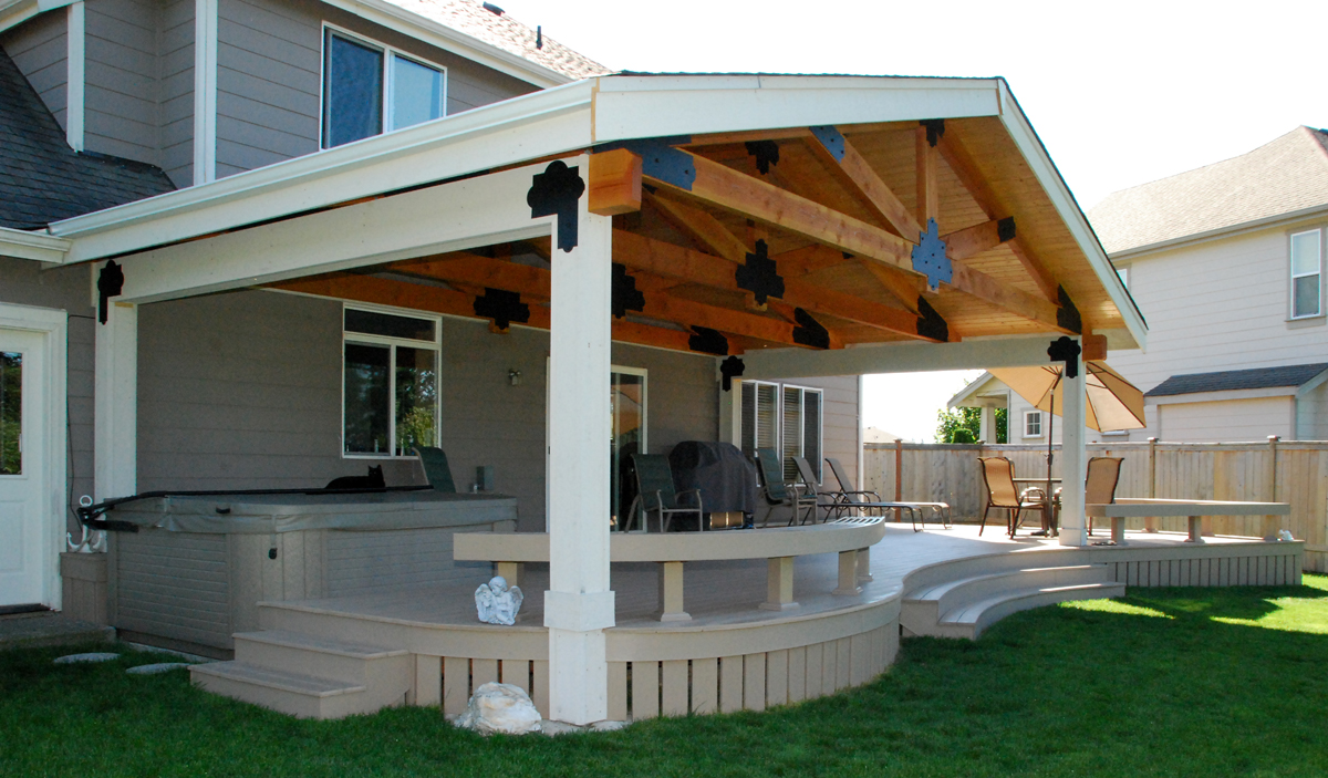 Deck Cover Ideas - HomesFeed on Covered Back Deck Designs id=46033
