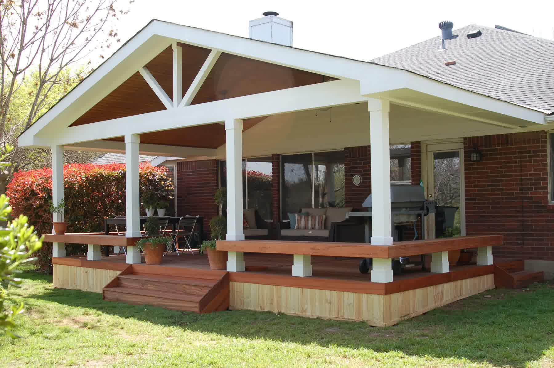 Covered Deck Designs - HomesFeed on Add On Patio Ideas  id=43042