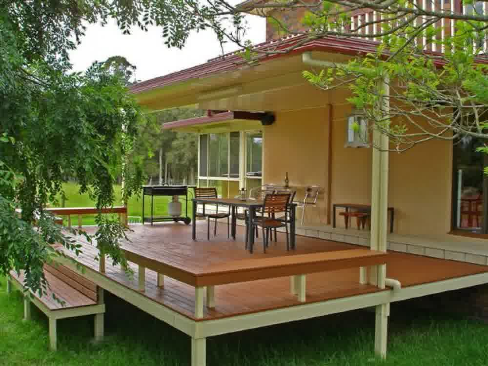 Covered Deck Designs - HomesFeed on Deck Cover Ideas  id=38254