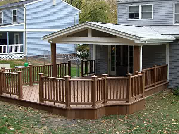 Covered Deck Designs - HomesFeed on Covered Back Deck Designs id=12782