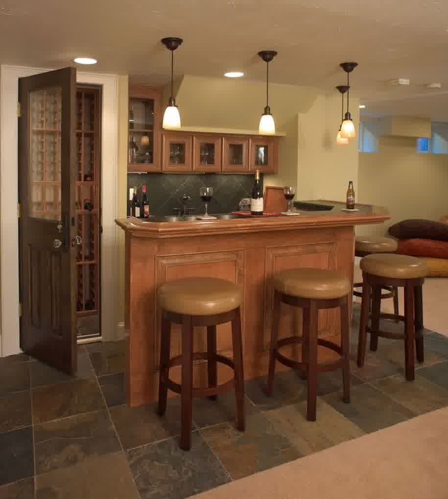 Small Basement Bar Ideas | HomesFeed on Small Wet Bar In Basement  id=39065